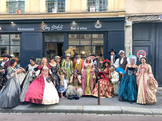 Chez Stefs accommodating 18 of our friends before the Grand Masked Ball at the Palace of Versailles