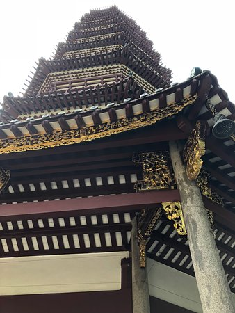 Pagoda's architectural detail.