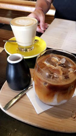 Iced Latte and Latte