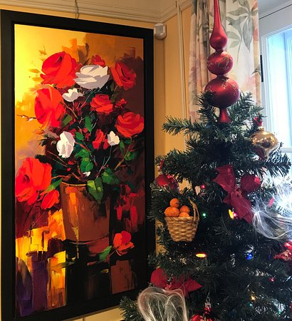 Roses for Christmas by Christian Bergeron 24 x48