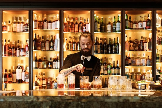 High end spirits bar on Hobart's waterfront