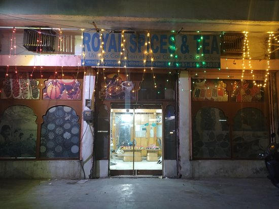 Royal Spices And Tea: We decorated the store on deewali celebration