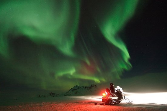 Northern Lights Snowmobiling...