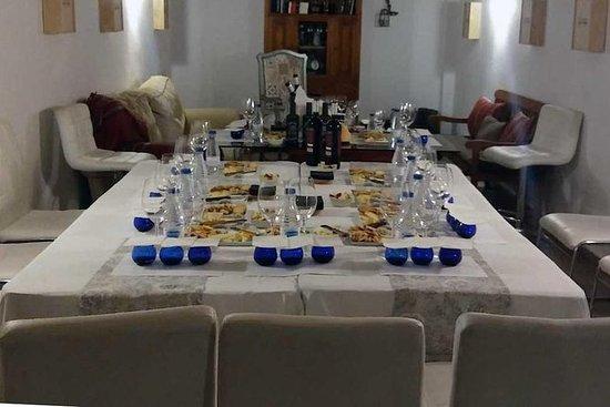 Proeverij van kaas, olie en wijn