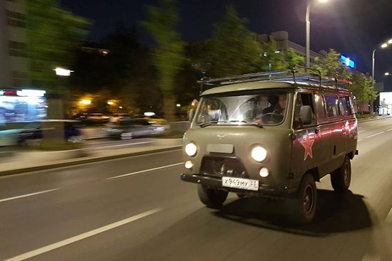 Moscow by night, onboard a Soviet van