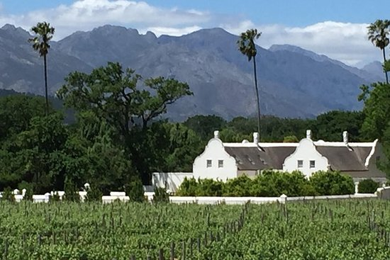 The Cape Winelands utenfor banket banen
