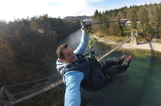 zipline over the sava river