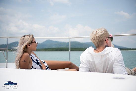 Explore islands around Phuket on a private catamaran charter.