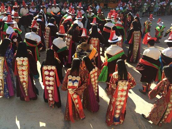 Tongren, China: During Shaman festival in Repkong