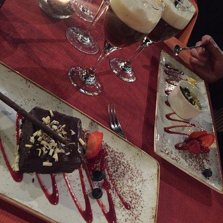 Restaurant Argentiina: Suklaakakku ja mangovaahto