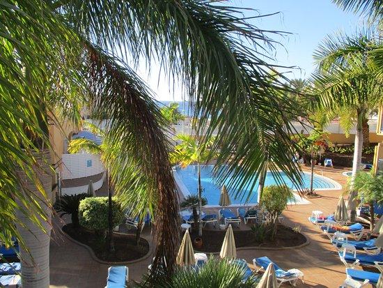 Blue Sea Jandia Luz: Výhled z balkonu pokoje v severní části hotelu