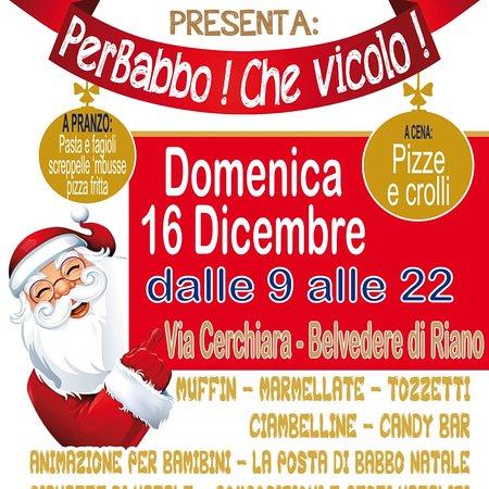 Riano, Italy: Domenica 16 dicembre 2018... festa di Natale... anche a pranzo e a cena!