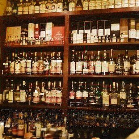 Amazing whisky selection