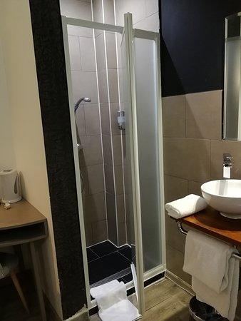 Shower unit in bedroom