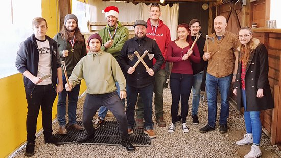 Ringinglow Archery: Team building group air pistol, knife and axe throwing event