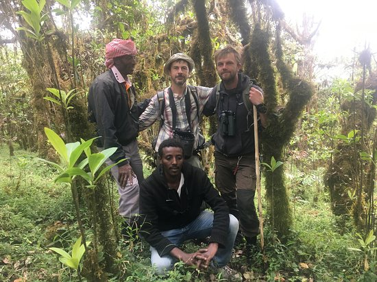 With some of our guides in  Harenna forest!
