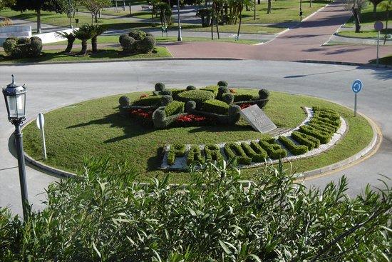 Dit is de ingang van het park