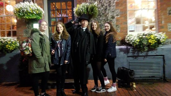 Silas with a delightful group of young ladies from Varnden College.