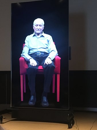 Interactive exhibit, in ongoing development, with a holocaust survivor.