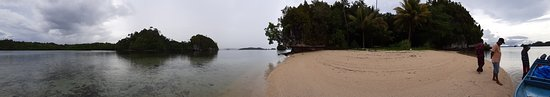 Misool, Indonesia: on the beach