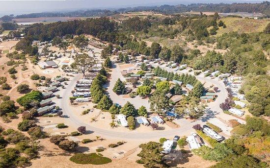 La Selva Beach, Californie: Bird's-eye view of our KOA