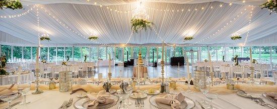 West Shore Pavilion set for a wedding