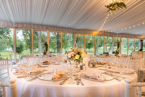 Fontana, WI: West Shore Pavilion set for a wedding
