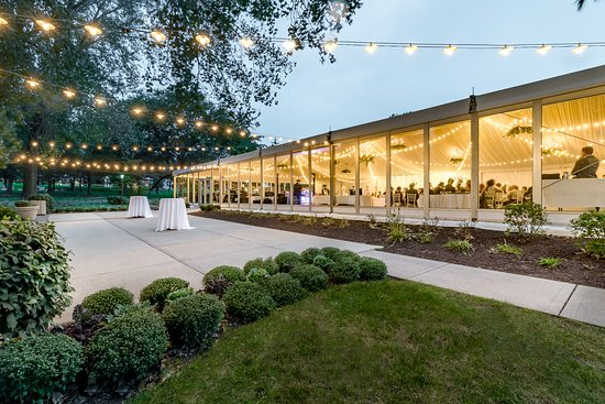 Outside view of West Shore Pavilion and patio