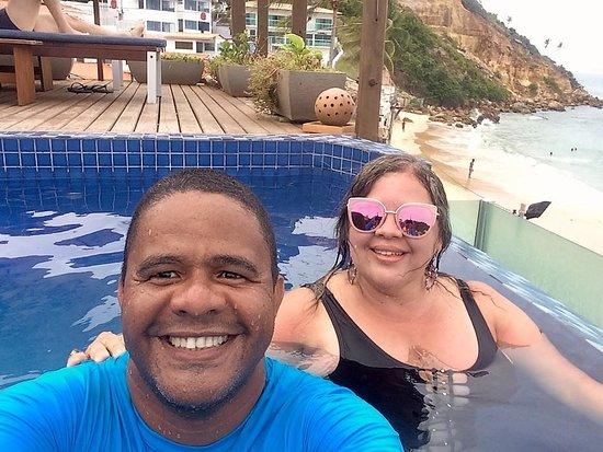 Pousada Bahia Bacana: Piscina sensacional... vista das prais, e borda infinita!
