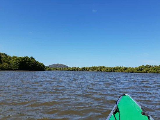 Heading upstream toward Mt Coolum.
