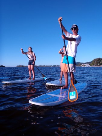 Stand up paddling Noosa River