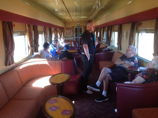 The Ghan: One of the lounge cars