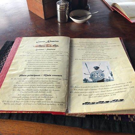 Cuisine française et khmer
