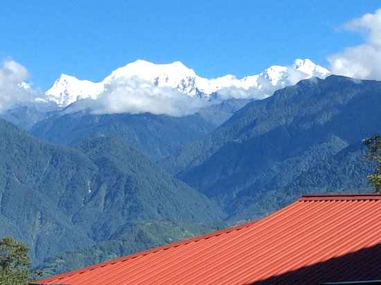 The Chumbi Mountain Resort & Spa : This is the view you get from our property in the month of Nov. Dec. Jan and Feb