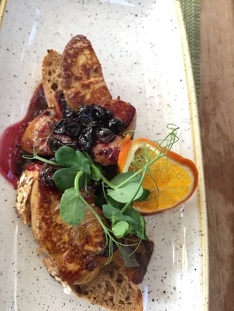 Foie gras with black currant jam