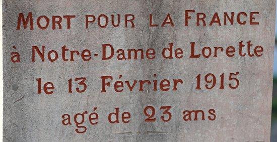Fragnes Le cimetiée Mort pour la France à 23 ans