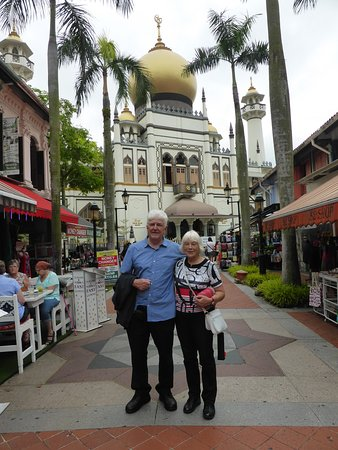 Sultan Mosque, a landmark Islamic house of worship in the Kampong Glam Malay Heritage District