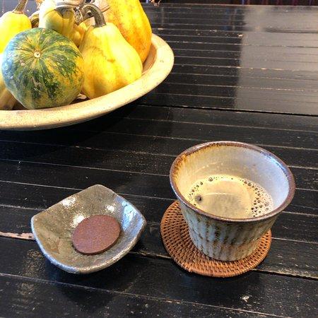 Yanagiya: 到着した時に出してくれたコーヒー