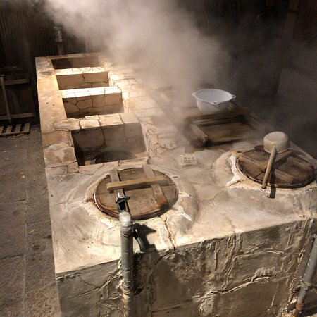 Yanagiya: 宿泊客が自由に使える地獄蒸し