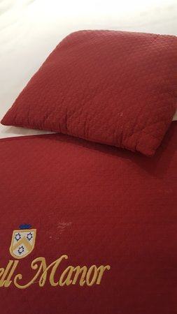 Eastwell Manor: White stains on bedding