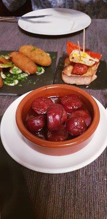 Patio del Sol: Chorizo in Rotweinsoße