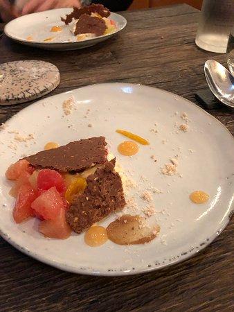 ASPIC: Grapefruit with Panna cotta