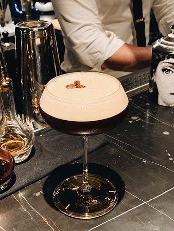 Our Espresso Martini made with Absolut Elyx and Lavazza Kafa!