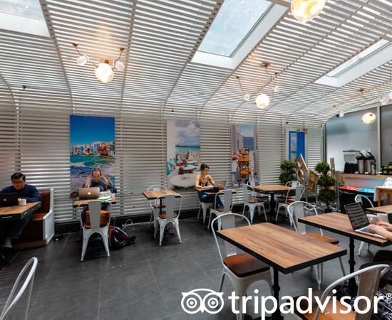 Mykonos Blue Grill at the Hotel Henri, A Wyndham Hotel