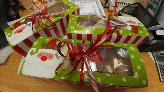 Holiday Tins, boxes and even stockings... fill them to your special creativity with Greek sweets!  OPA!