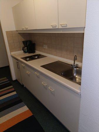 Die Küche war sauber und gepflegt