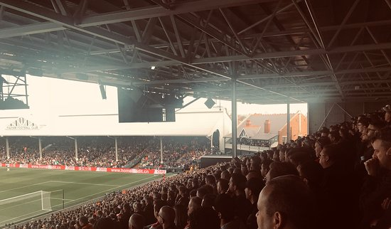 Craven Cottage Pavilion from Away End
