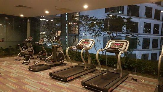 Gym facility.