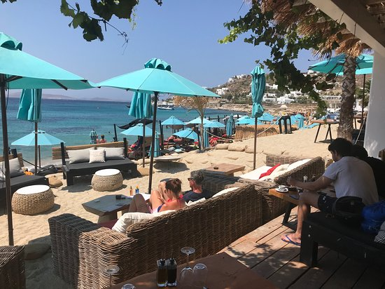 View of beach from the restaurant