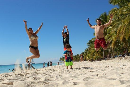foto tomada a las orillas de isla saona
